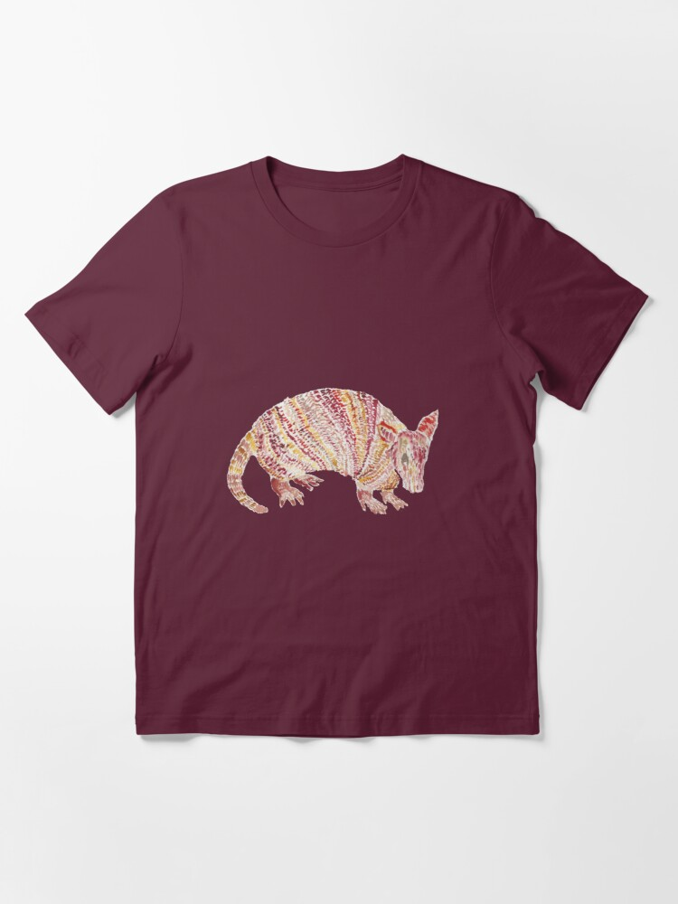 Alternate view of Watercolor Armadillo  Essential T-Shirt