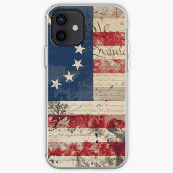 Betsy Ross flag w/ US Constitution  iPhone Soft Case