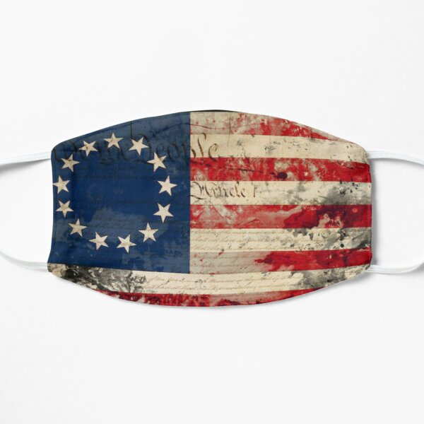 Betsy Ross flag w/ US Constitution  Mask