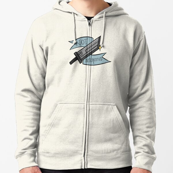 Not Interested  Zipped Hoodie