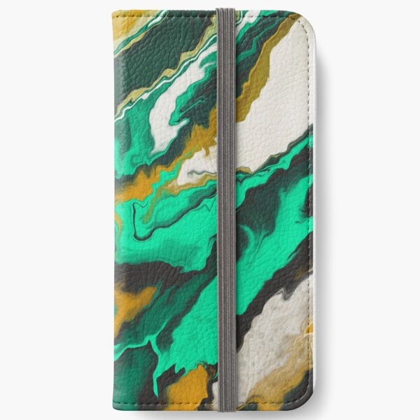 Copper and Teal iPhone Wallet