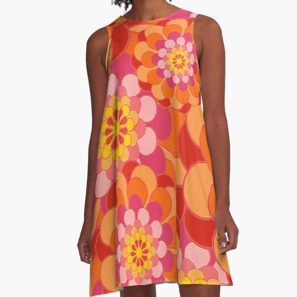 60s Flower Power - Yeah Baby! A-Line Dress