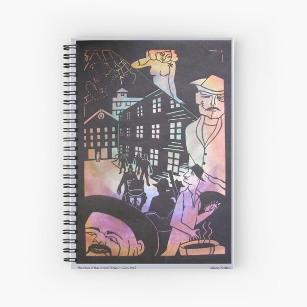 The Man of the Crowd in Black Spiral Notebook