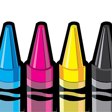 CMYK Crayons by MrAparagi