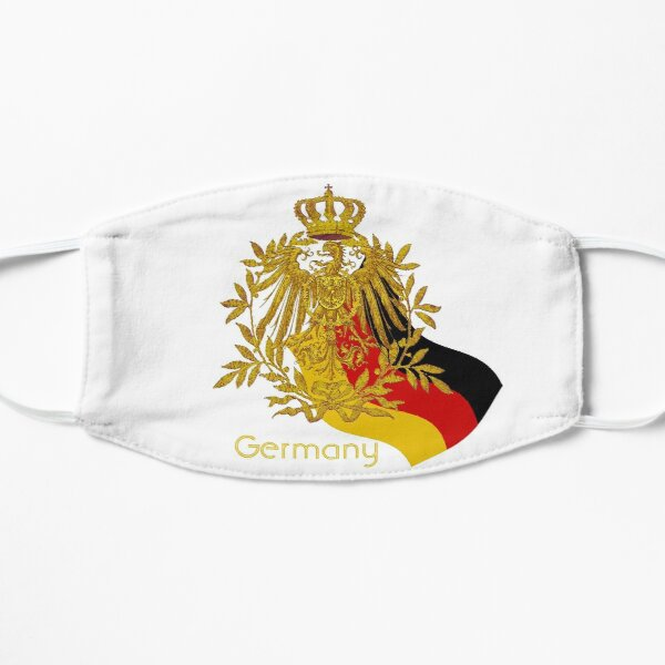 Gold German Vintage Eagle Crest with German Flag Flat Mask