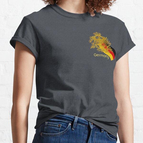 Gold German Vintage Eagle Crest with German Flag Classic T-Shirt