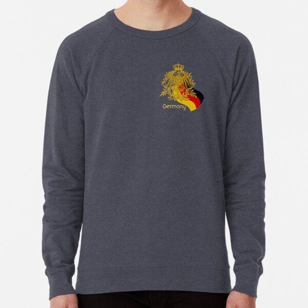 Gold German Vintage Eagle Crest with German Flag Lightweight Sweatshirt