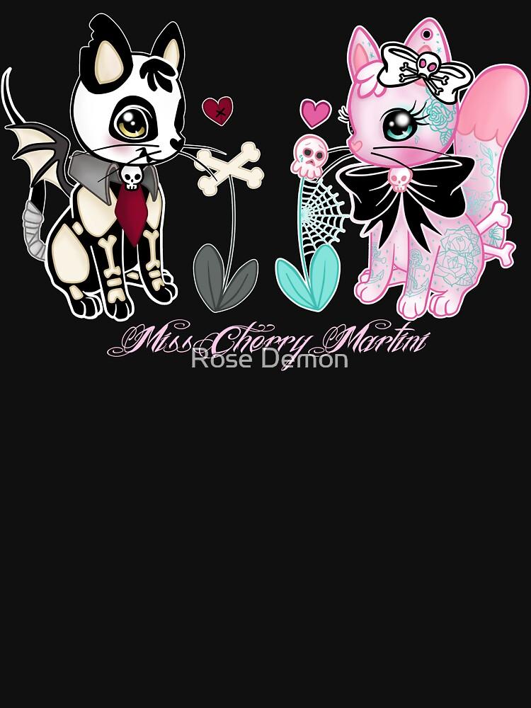 Gatito muerto y gatito tatuado de CherryMartini