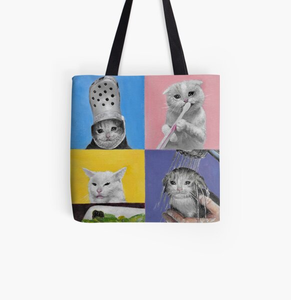 The Four Horsemen of the Apawcalypse All Over Print Tote Bag