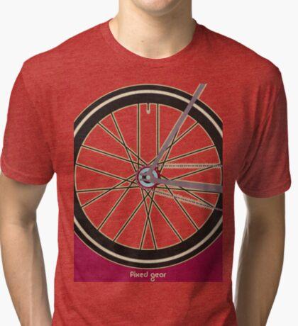 Single Speed Bicycle Tri-blend T-Shirt