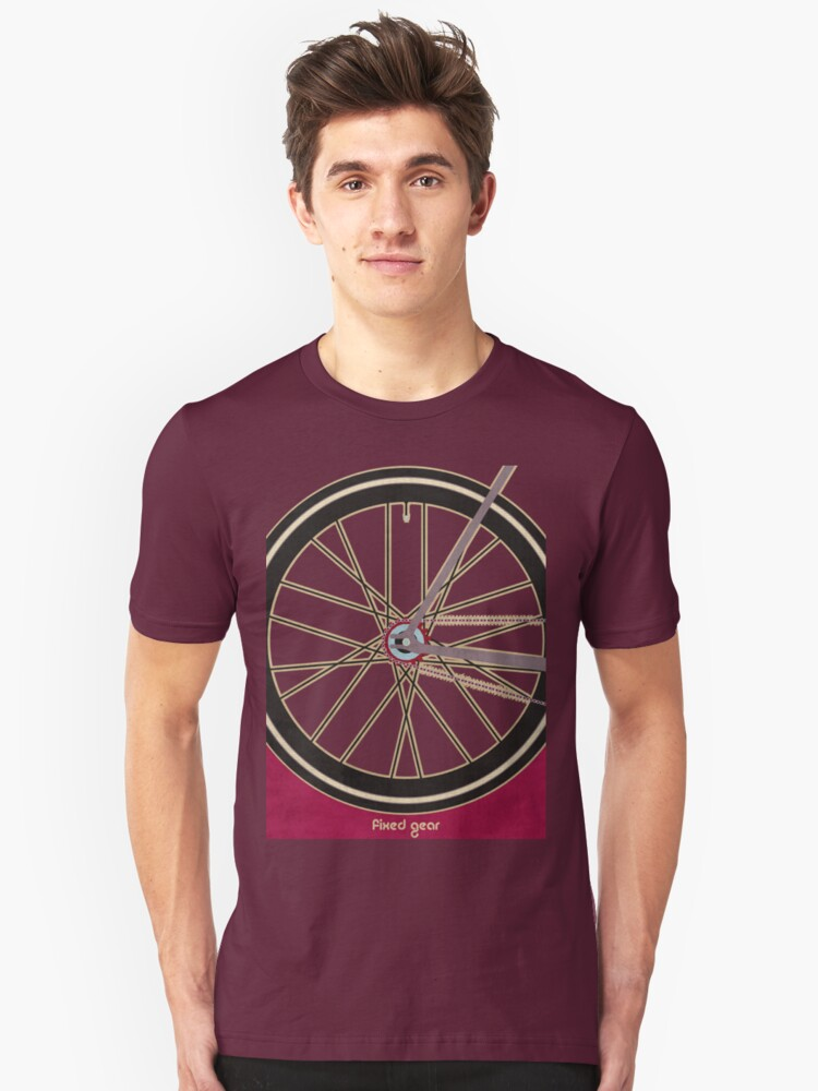 Single Speed Bicycle Unisex T-Shirt Front