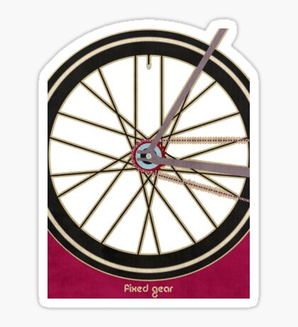 Single Speed Bicycle Sticker