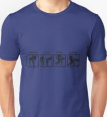RUGBY SCRUM - STOP TOUCH PAUSE ENGAGE  T-Shirt
