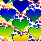 Rainbow Hearts by ScaleDesigns