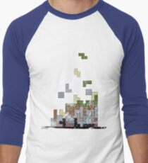 MineTetris Men's Baseball ¾ T-Shirt