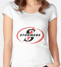 STORMERS SOUTH AFRICA RUGBY WP PROVINCE SUPER 15 RUGBY Women's Fitted Scoop T-Shirt