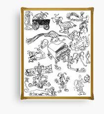 Jester Scribble Canvas Print