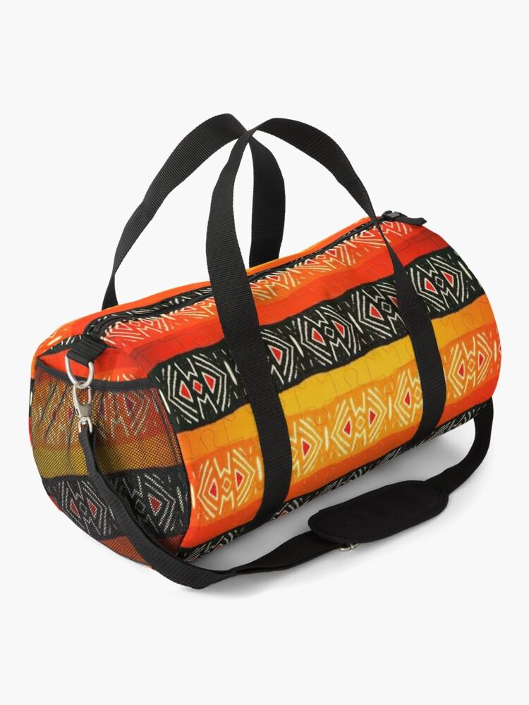 Alternate view of African Geometric Jigsaw Pattern  Duffle Bag