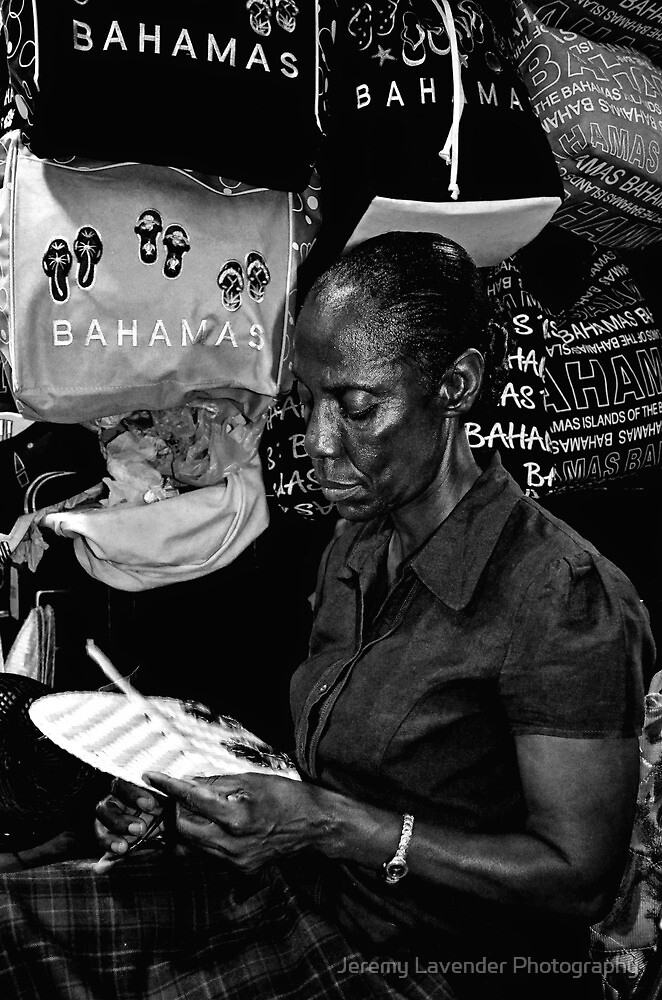 Straw Market Lady at work in Nassau, The Bahamas by Jeremy Lavender Photography