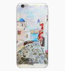Greece Watercolor iPhone Case