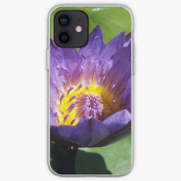 Mystic purple lotus flower iPhone Soft Case