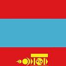 Mongolia Flag by pjwuebker