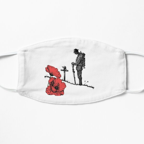 Lest We Forget - Poppy Day Flat Mask