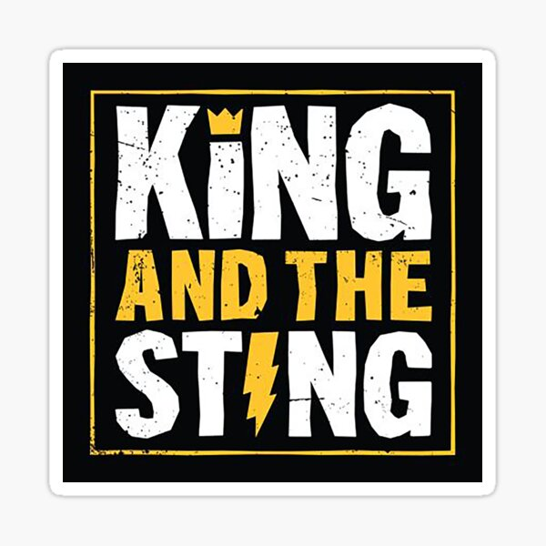 King and the sting Sticker