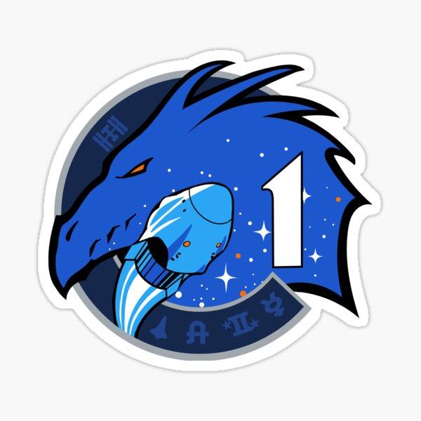 Logotipo de la misión SpaceX Crew-1 Pegatina