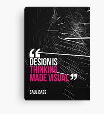 Creative Quote Design 005 Saul Bass Canvas Print