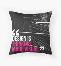 Creative Quote Design 005 Saul Bass Throw Pillow