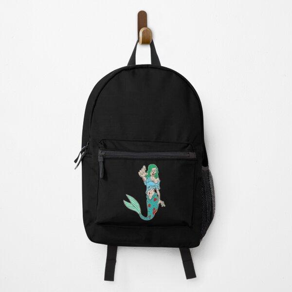 Halloween Creepy Zombie Scary Mermaid Backpack