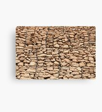 wall of gabions Canvas Print