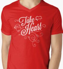 Take Heart! Men's V-Neck T-Shirt