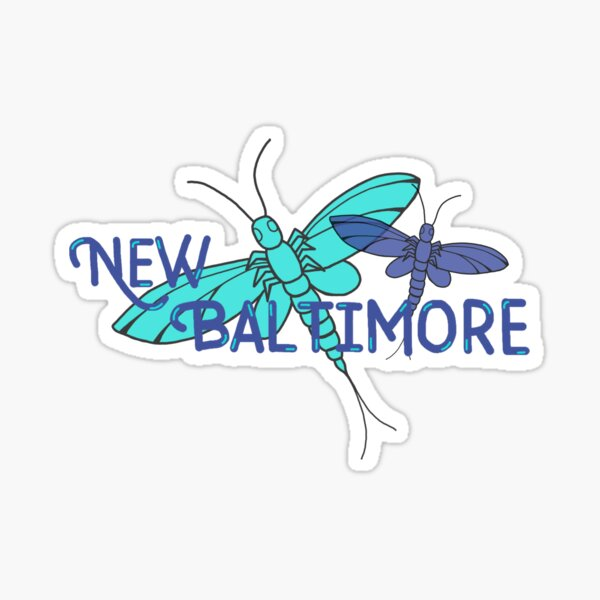 New Baltimore, MI; Fishflies Sticker