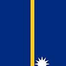 Nauru Flag by pjwuebker