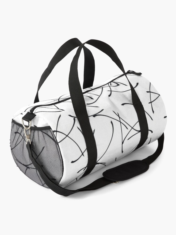 Alternate view of Minimalist Black and White Abstract Pattern Duffle Bag
