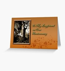 To My Boyfriend On Our Anniversary Willow Tree Greeting Card
