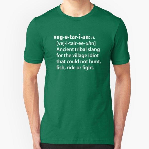Vegetarian definition dictionairy Slim Fit T-Shirt
