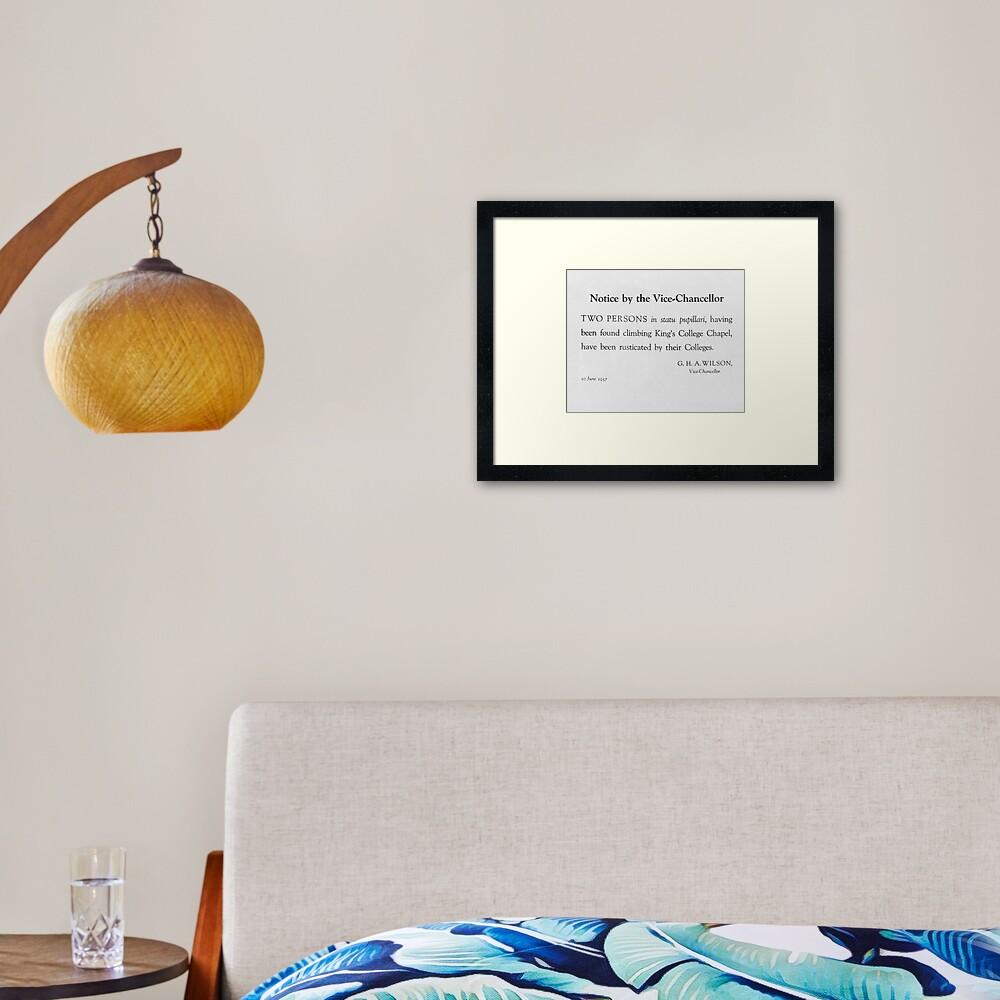 Rustication Framed Art Print