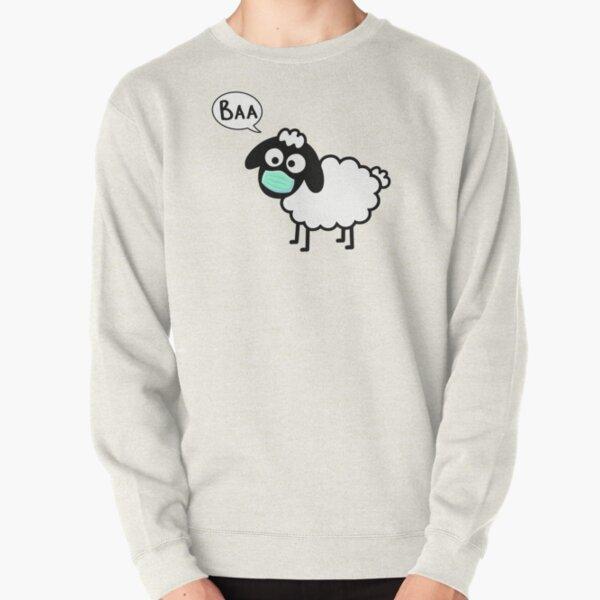 Sheeple follow me - just not too close - cute & funny sheep medical mask art - Baa Pullover Sweatshirt