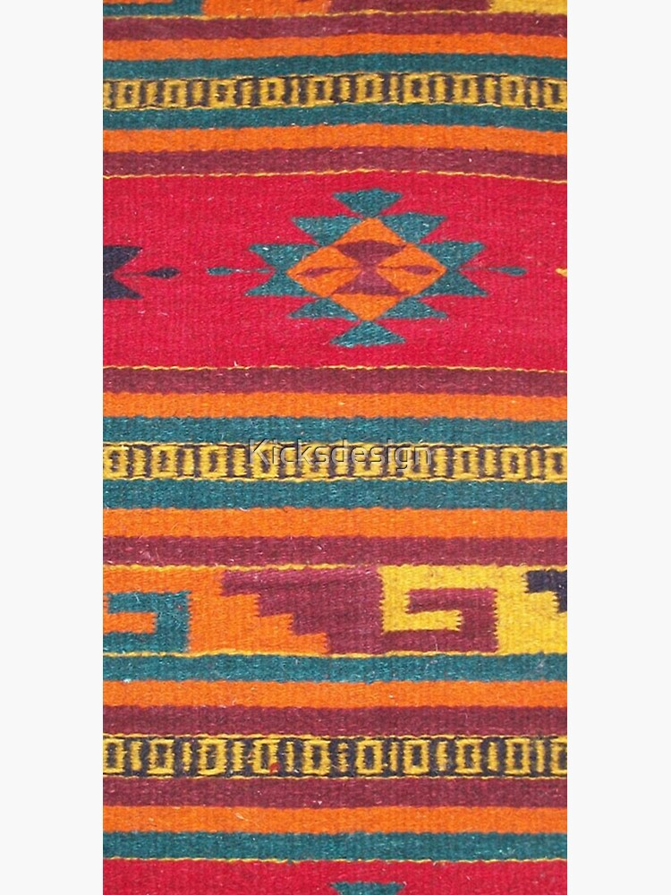 Colorful red Aztec Pattern by Kicksdesign