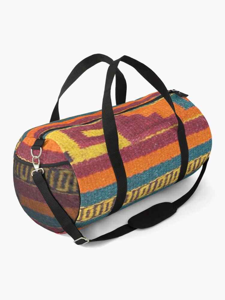 Alternate view of Colorful red Aztec Pattern Duffle Bag