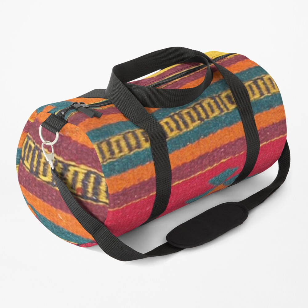 Colorful red Aztec Pattern Duffle Bag