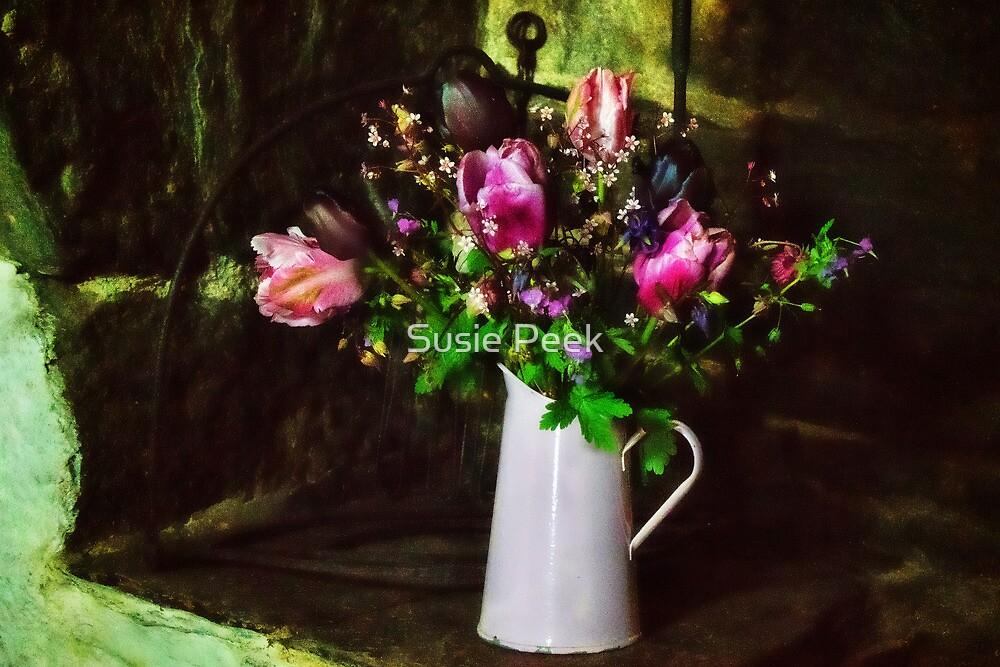 Flowers On The Hearth by Susie Peek