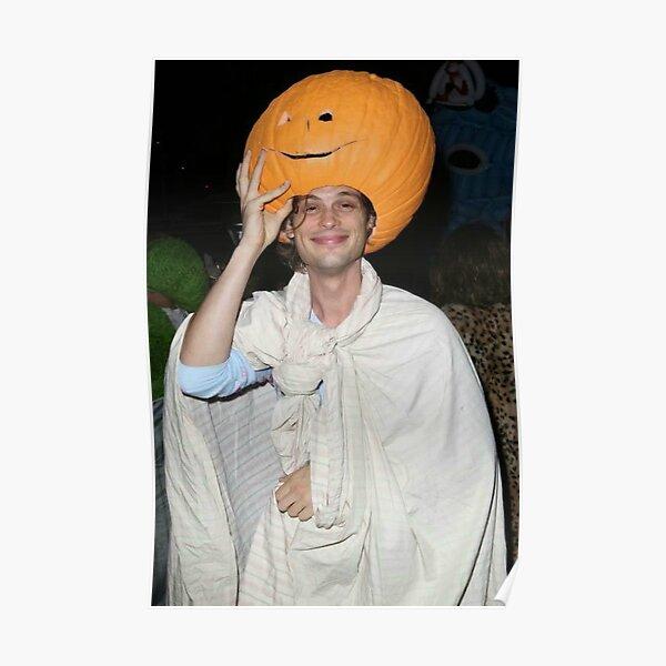 Matthew Gray Gubler Pumpkin Head Poster
