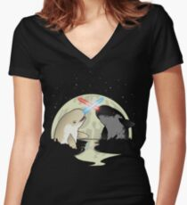Nar Wars Women's Fitted V-Neck T-Shirt