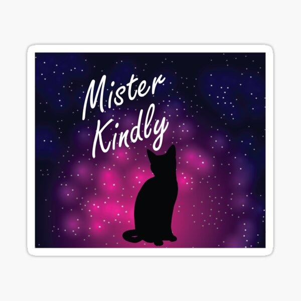 Mister Kindly Nevernight Shadow Cat Print  Sticker