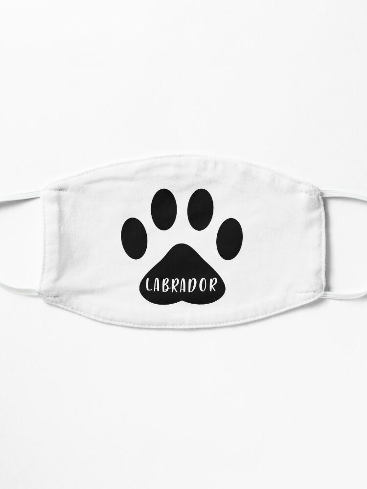 Alternate view of Labrador Paw Print Seal Mask