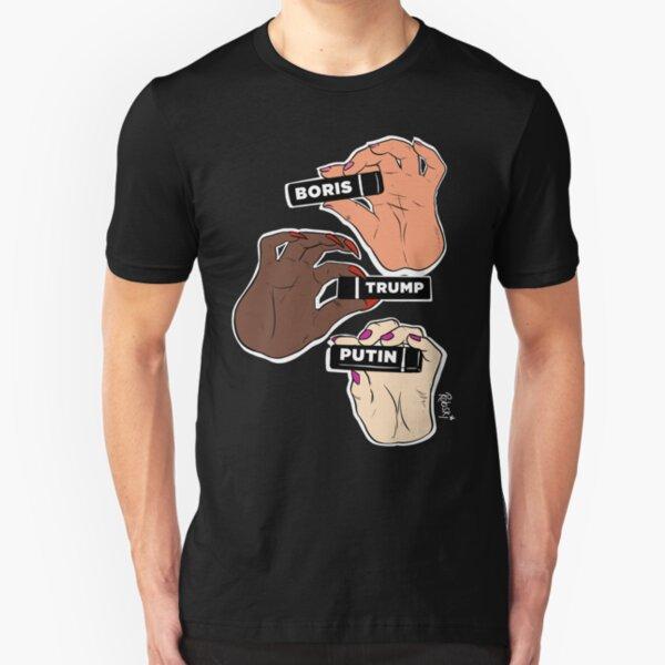 Sashay Away Boris, Trump & Putin Slim Fit T-Shirt